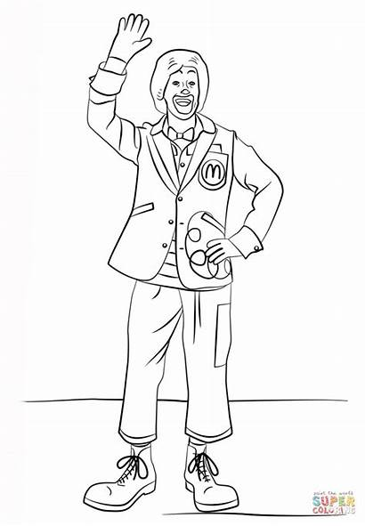 Mcdonald Ronald Coloring Pages Printable Mc Donalds
