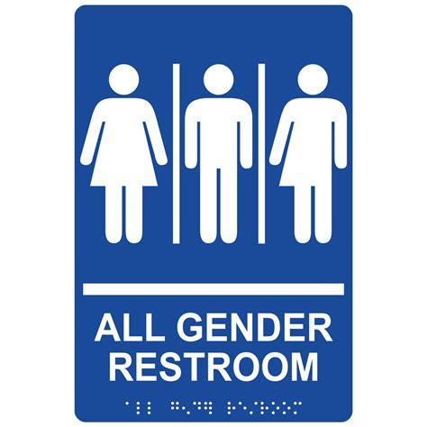 ada all gender restroom sign rre 25413 whtonblu gender neutral