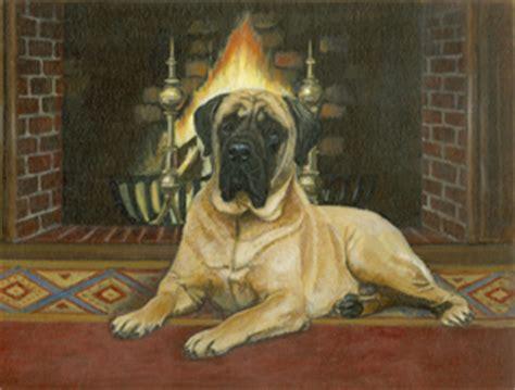 english mastiff art   doggin