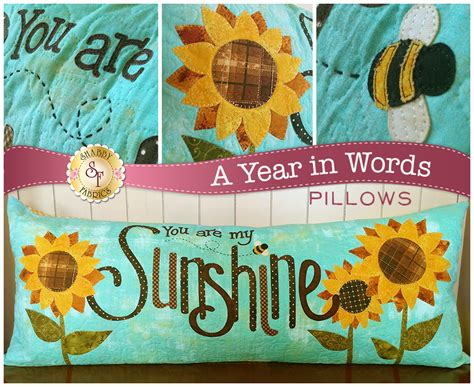 shabby fabrics pillow club a year in words pillow club pre fused laser cut