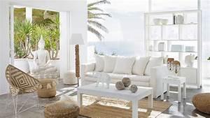 salon les 3 styles tendance de la rentree With tapis jonc de mer avec grand canapé 10 places