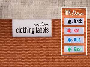 500 custom clothing labels thermal printed fabric labels With fabric clothing labels personalized