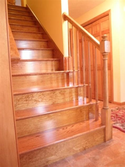 custom  red oak stairs  broughton woodworks