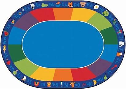 Classroom Fun Rug Carpet Oval Phonics Clipart
