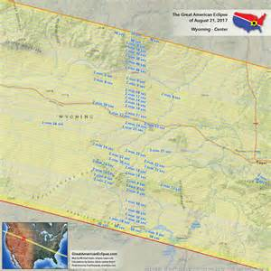 Wyoming Total Solar Eclipse 2017 Path