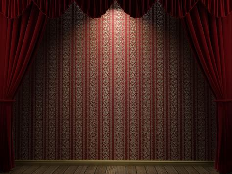 Stage With Red Curtains Background Gallery Yopriceville
