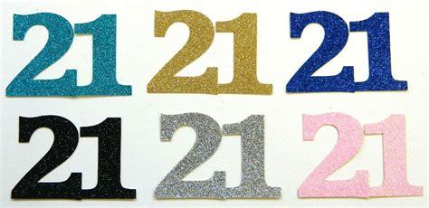 Die Cut Glitter Medium Number 21 X 15 Card Making, Crafts