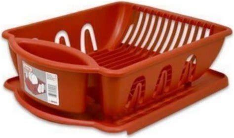 sterlite medium size red sink dish rack drainer