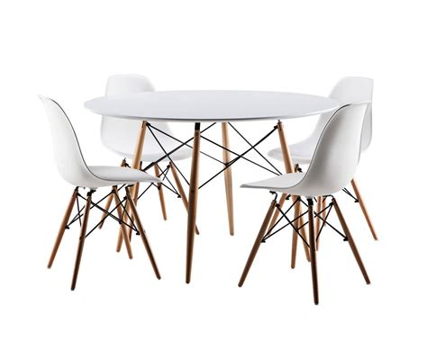 eiffel white dining table with beech wooden legs