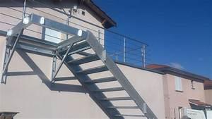 Escaliers métalliques Lyon, escalier métal Lyon Mions portail