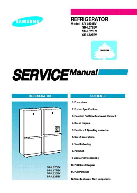 samsung sr l676ev sr l678ev sr l626ev sr l628ev service manual schematics eeprom