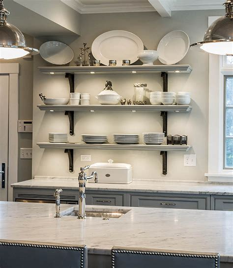 kitchen cabinets open shelving floating shelves to maximize the space in your kitchen 6281