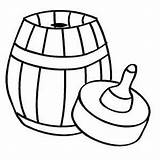 Empty Coloring Barrel Bowl Fish Printable Cliparts Freeprintablecoloringpages Gardening sketch template