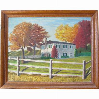 Country Landscape Oil Autumn Fall Canvas Painting