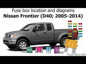 2014 Nissan Versa Fuse Diagram : fuse box location and diagrams nissan frontier d40 2005 ~ A.2002-acura-tl-radio.info Haus und Dekorationen
