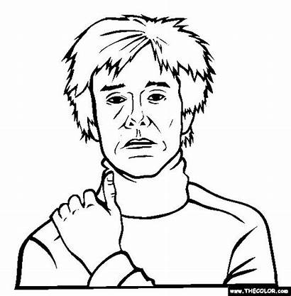Warhol Andy Coloring Clipart Pages Pop Colouring