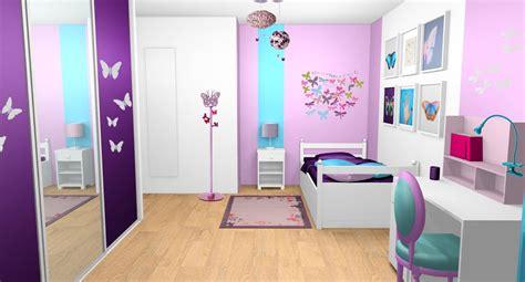 peinture chambre violet d 233 coration d int 233 rieur d une chambre de fille 224 vaux le
