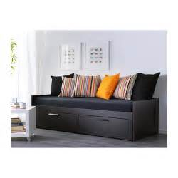Brimnes day bed frame with drawers black cm ikea
