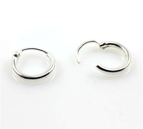 What Is A Sleeper Earring by 925 Sterling Silver Sleeper Earrings 1 00cm Diameter