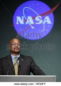 Dwayne Brown, NASA public affairs officer, moderates a ...