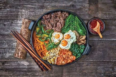 cuisine dinner mixed rice bowl with beef bibimbap recipe sbs food
