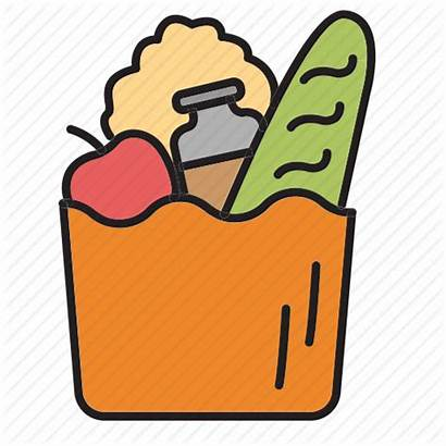 Bag Clipart Groceries Shopping Icon Vegetables Cook