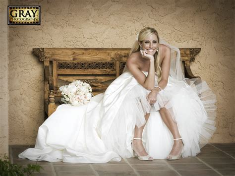 Cute Bride Pose Pink And Gray Girlie Wedding Outdoors Villa