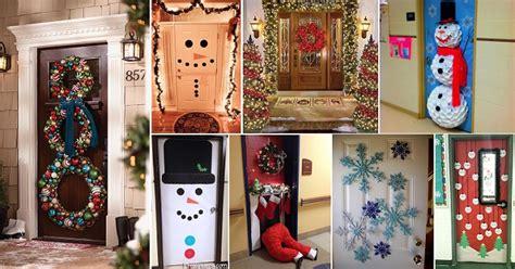 pretty christmas door decorations home design garden