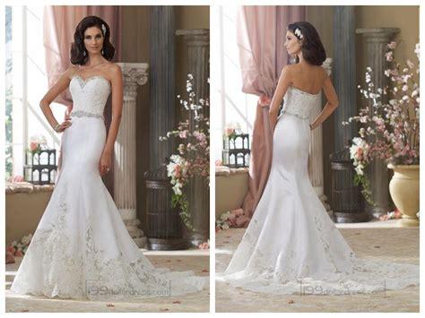 Beaded Sweetheart Lace Appliques Mermaid Wedding Dresses