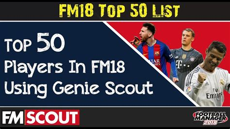 fm18 top 50 players by current ability genie scout