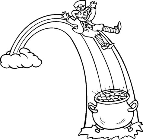 leprechaun coloring page rainbow coloring pages 360coloringpages