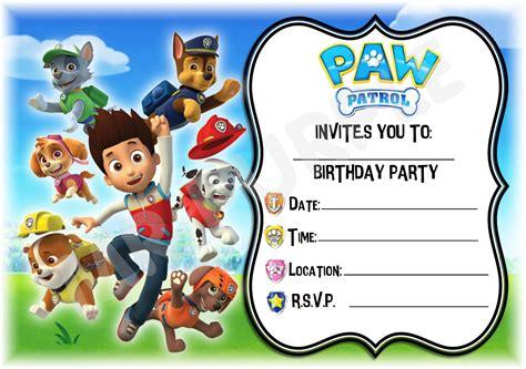 Tips For Choosing Paw Patrol Invitations Designs Ideas Egreeting Ecards