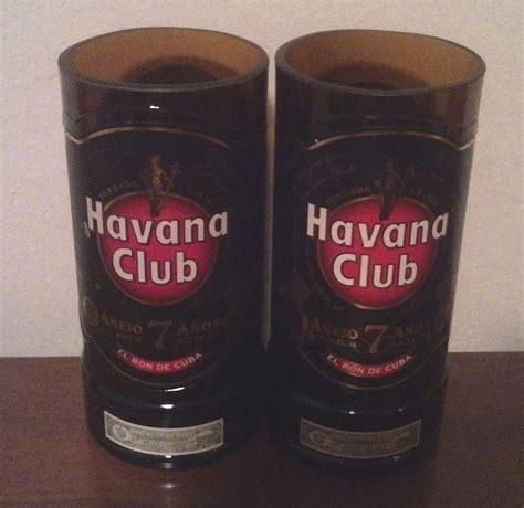 Bicchieri Club by 2 Bicchieri Rum Club Ottenuti Da Bottiglie Per La
