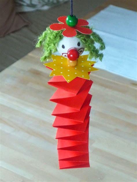 faschingsdeko basteln mit kindern meine gr 252 ne wiese clown faschingsdeko basteln