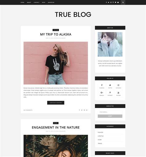 trueblog blogger template full version premium themexpose