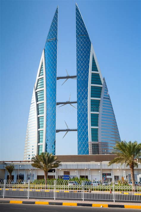 Modern Building Of Bahrain World Trade Center, Manama ...