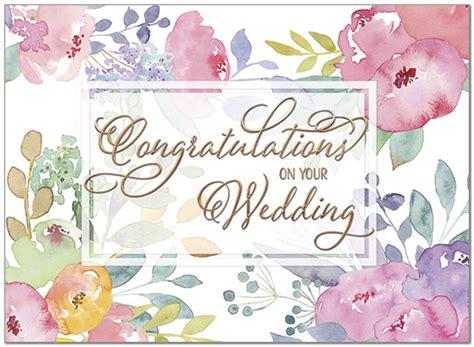 Floral Wedding Congratulations Card Congrats Cards