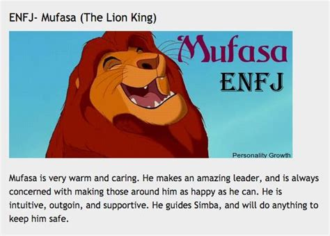 Myers Briggs (mbti) Disney Animal Types