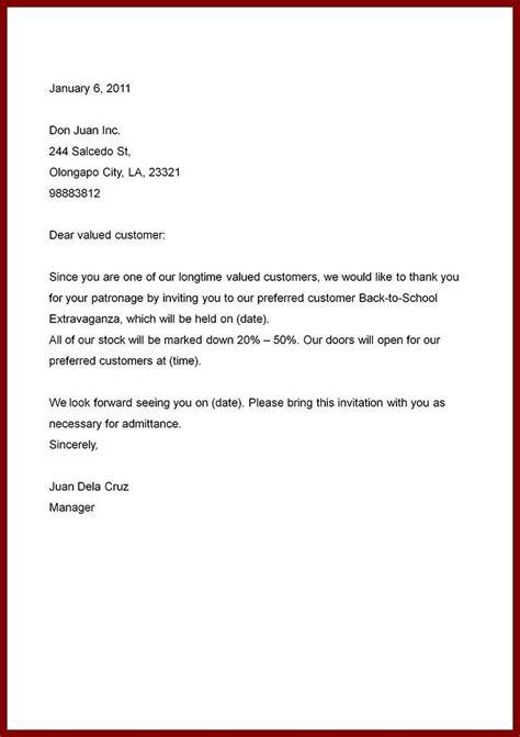 simple business letter sample letters  sample letters