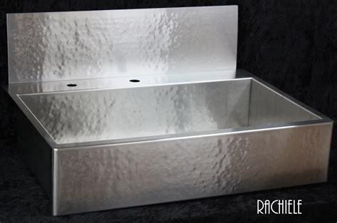 Hammered Stainless Steel Farmhouse Sink Befon For