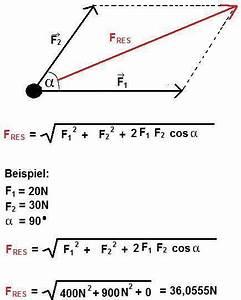 Innenwinkel Dreieck Berechnen Vektoren : resultierende kraft kr fte zerlegen ~ Themetempest.com Abrechnung