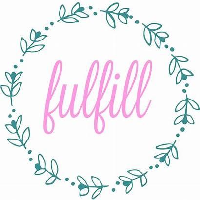 Word Fulfill Happy