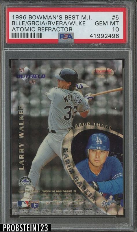 mirror larry bowman mirrors 1996 cards cool refractor