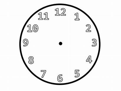 Clock Hands Face Without Printable Outline Clipart