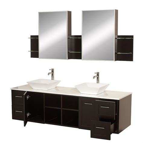 medical cabinets with sink wyndham collection avara 72 in vanity in espresso with