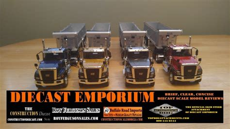 wsi cat ct tractor  east dump trailer review youtube