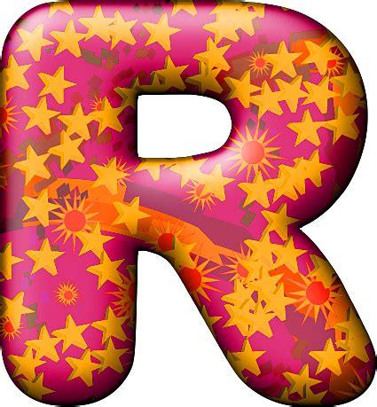 presentation alphabets balloon warm letter r