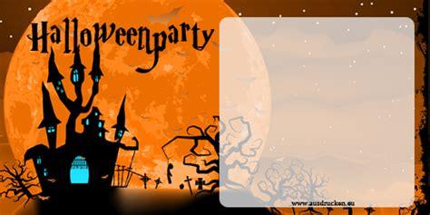 einladungskarten fuer halloween gestalten und ausdrucken