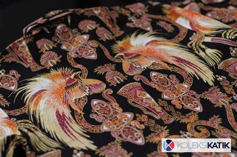 Kemeja Batik Hitam Cahyo Merah kemeja batik hitam asal papua motif cendrawasih