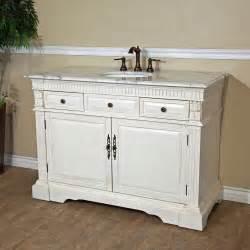 White Single Sink Bathroom Vanity Cabinets